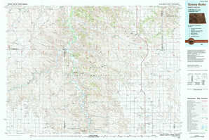 Grassy Butte topographical map