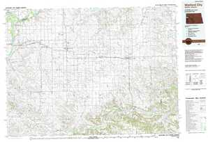 Watford City topographical map