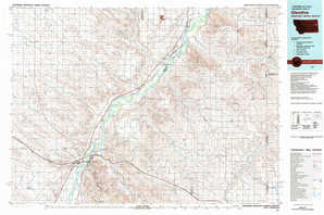 Glendive topographical map