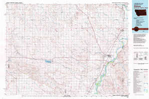 Sidney topographical map