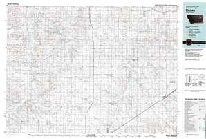 Richey topographical map