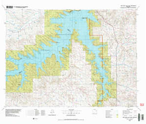 Fort Peck Lake East topographical map