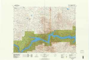 Fort Peck Lake West topographical map