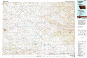 Winnett topographical map