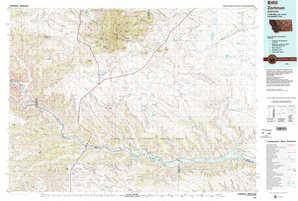 Zortman topographical map