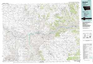 Winifred topographical map