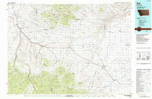Belt topographical map