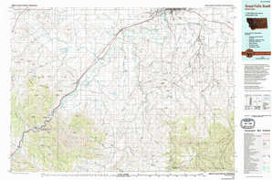 Great Falls South topographical map