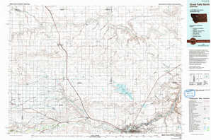 Great Falls North topographical map