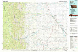 Choteau topographical map
