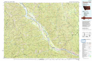 Thompson Falls topographical map
