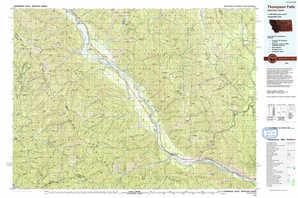 Thompson Falls 1:250,000 scale USGS topographic map 47115e1