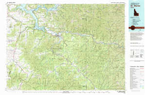 Saint Maries topographical map