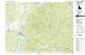 Coeur D'Alene topographical map