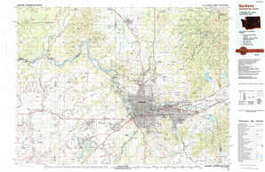 Spokane topographical map