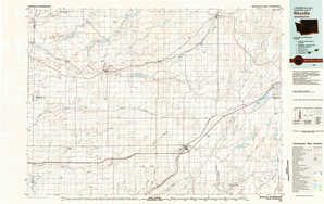 Ritzville topographical map
