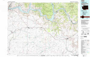Coulee Dam topographical map