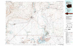 Moses Lake topographical map