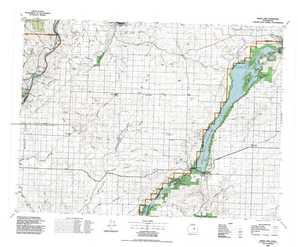 Banks Lake topographical map