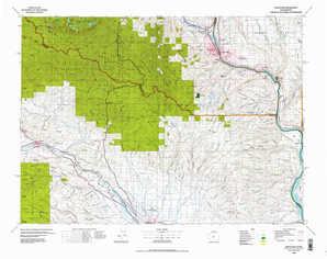 Wenatchee topographical map