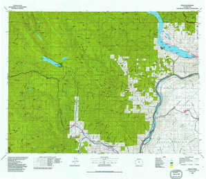 Chelan topographical map