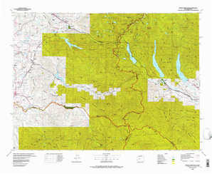 Snoqualmie Pass topographical map