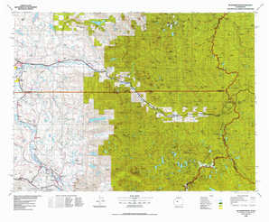 Skykomish River topographical map