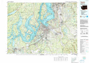 Tacoma topographical map