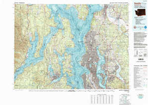 Seattle topographical map
