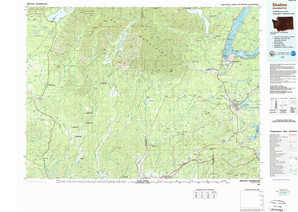 Shelton topographical map