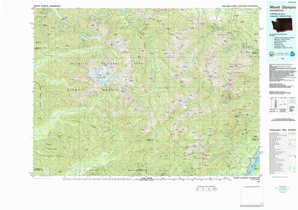 Mount Olympus topographical map