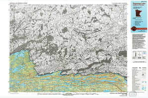 Saganaga Lake topographical map