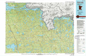 Crane Lake topographical map