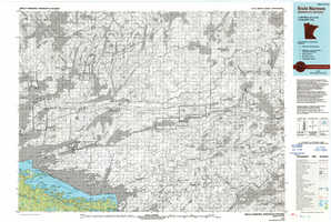 Brule Narrows topographical map