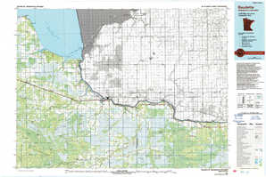 Baudette topographical map