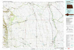 Cavalier topographical map