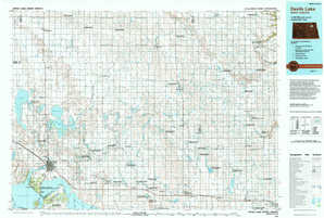 Devils Lake topographical map