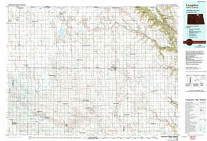 Langdon topographical map