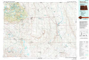 Rock Lake topographical map