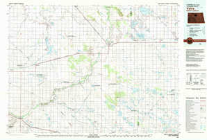 Velva topographical map