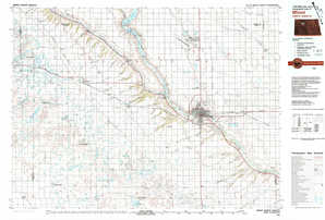 Minot topographical map