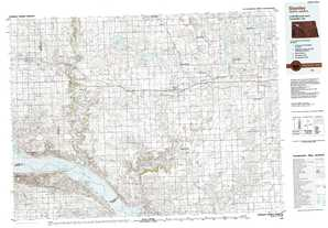 Stanley topographical map