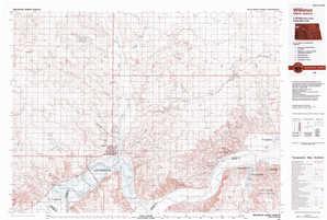 Williston topographical map