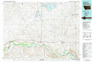 Culbertson topographical map
