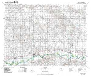 Wolf Point topographical map