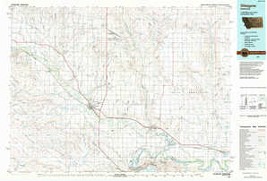 Glasgow topographical map