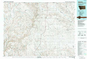 Opheim topographical map