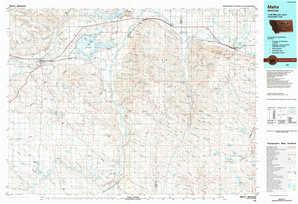 Malta topographical map