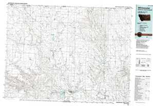 Whitewater topographical map