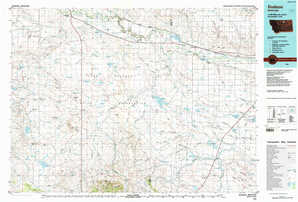 Dodson 1:250,000 scale USGS topographic map 48108a1